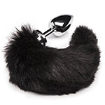 DOMINIX Large Stainless Steel Faux Fur Animal Tail Butt Plug