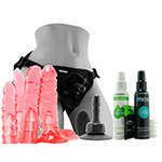 Doc Johnson Vac-U-Lock Crystal Jellies Dildo Set