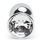 Lovehoney Jeweled Metal Beginner's Butt Plug 2.5 Inch