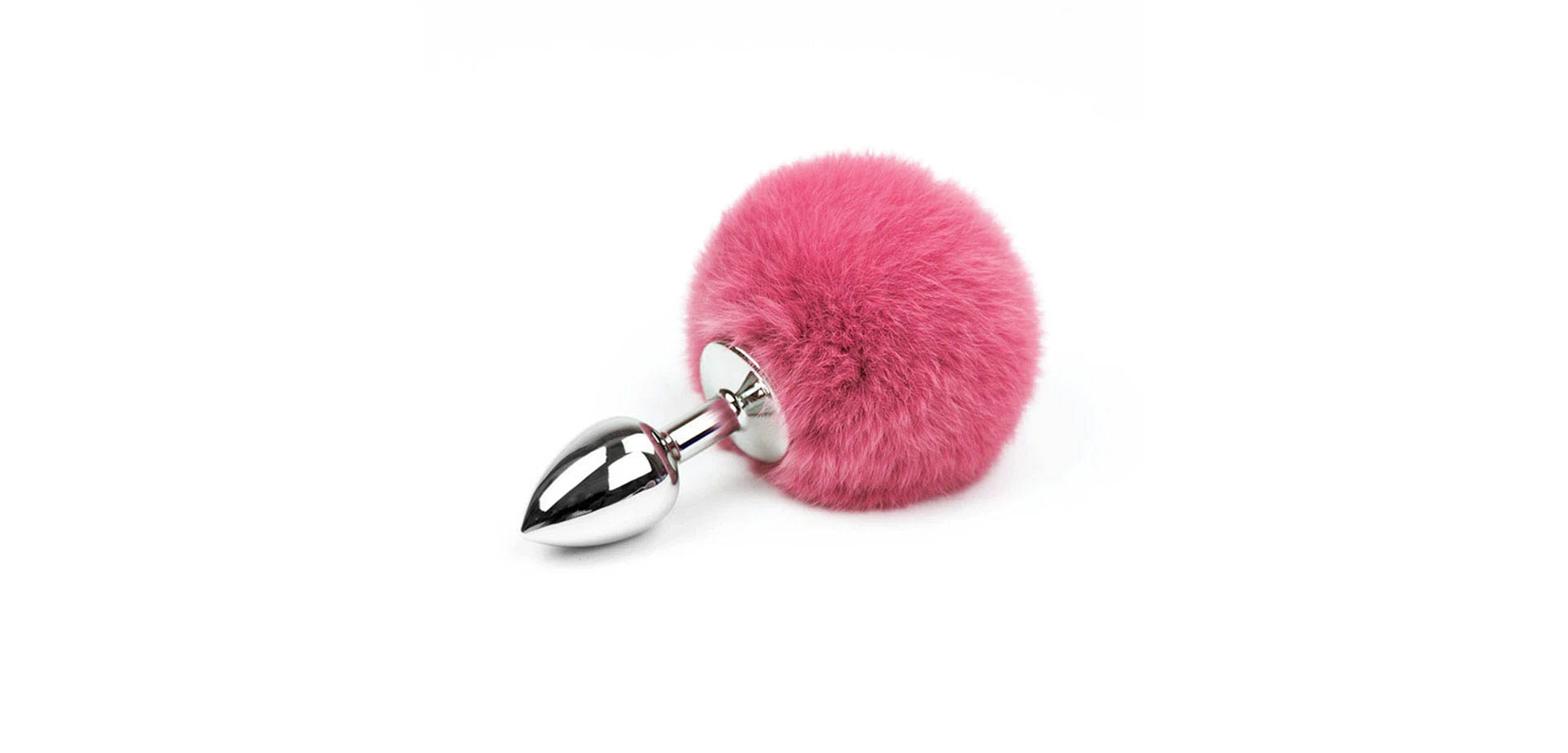 Pink Bunny Tail Butt Plug.