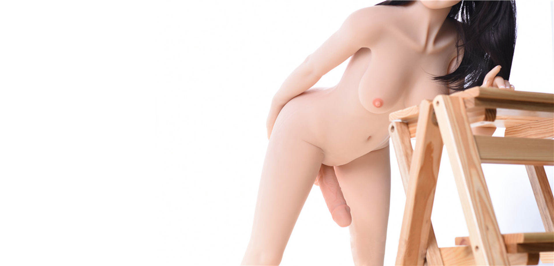 TPE shemale sex doll.
